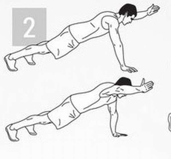 Упражнение для тренировки мышц пора: подъем руки