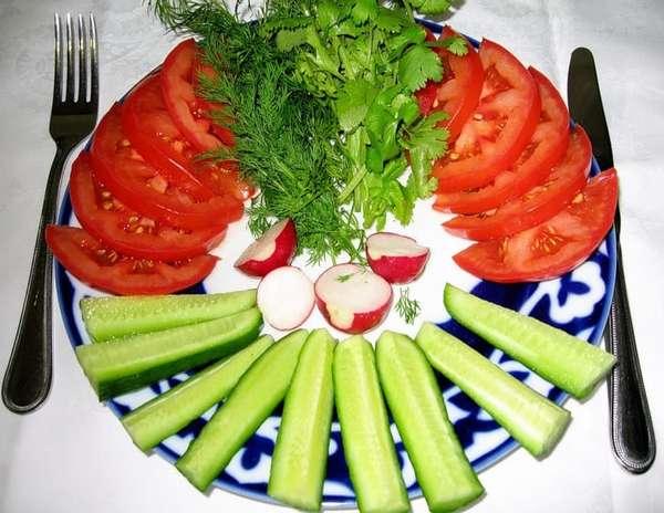 Овощной стол Фото