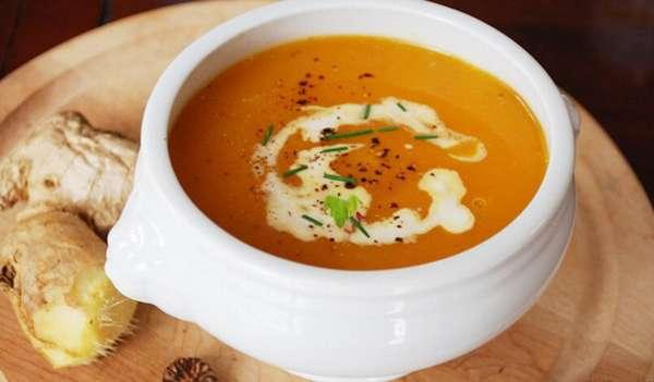 Фото: Тыквенный суп пюре с имбирем