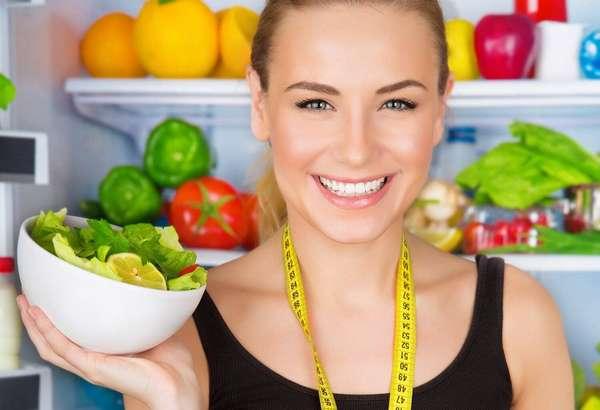 Фото: Сбалансированное питание для похудения. Девушка