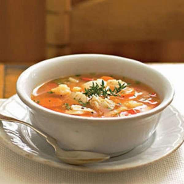 Диетический суп из рыбы