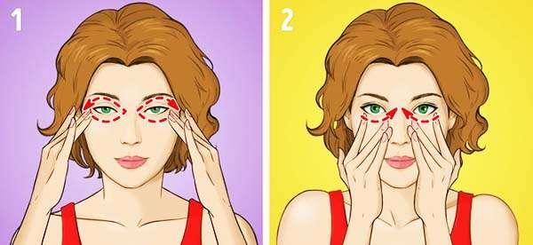 Упражнение № 2 - Массаж области вокруг глаз