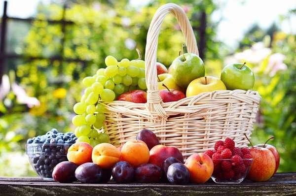Фруктовая диета для похудения Фрукты в корзине