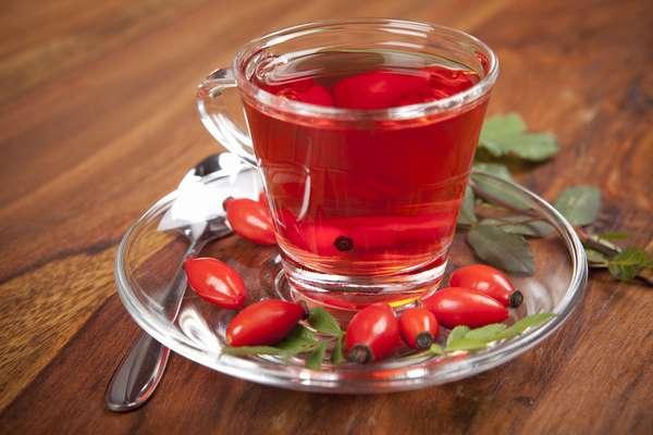 Как правильно заварить чай из шиповника Фото