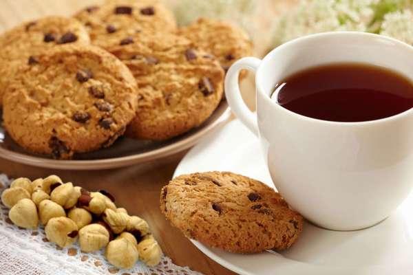 Печеньки с орехами Фото