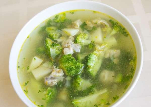 Суп с капустой брокколи фото