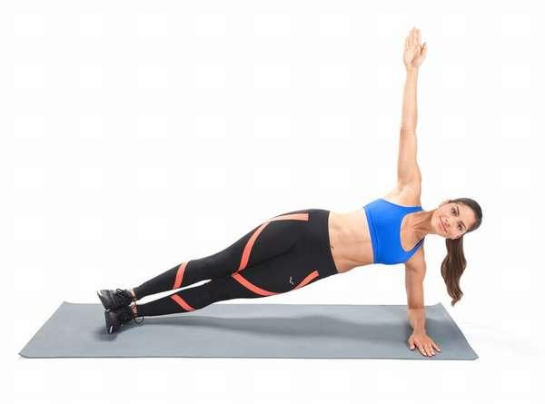 Упражнение боковая планка с упором на локоть