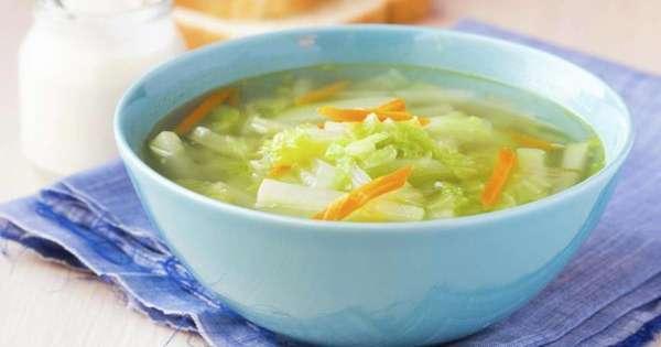 Диетический капустный суп Фото
