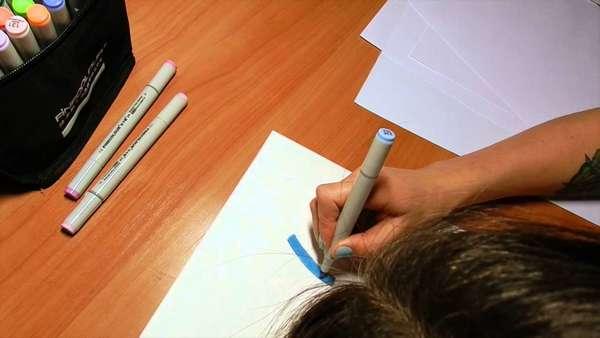 Лист бумаги и маркер