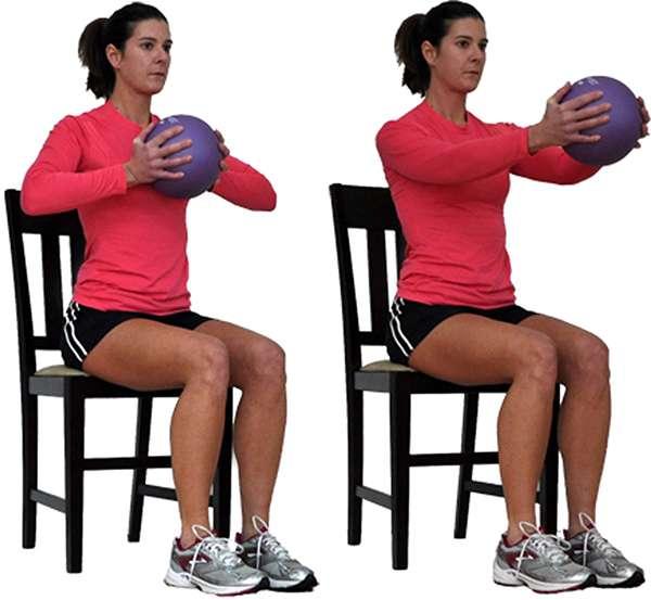 Упражнение Жим мяча