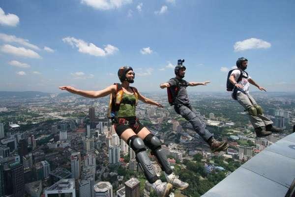 Новое в экстриме: BASE jumping