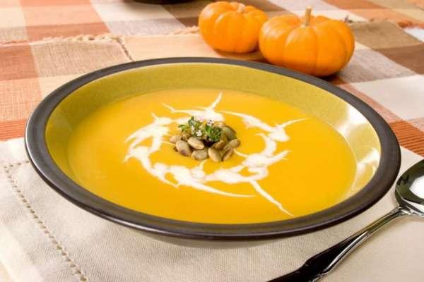 Фото: Крем суп из тыквы со сливками