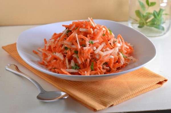 Салат из моркови и яблока - можно ли морковь на ночь при похудении