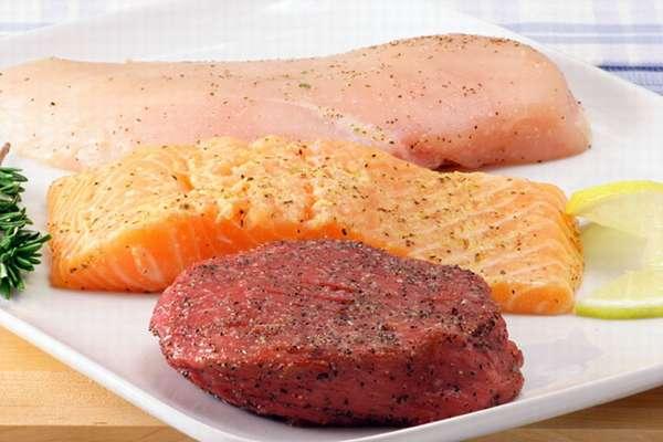 Жирные мясо с рыбой