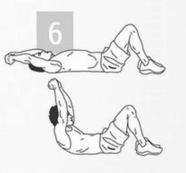 Упражнение для тренировки мышц пора: подъем корпуса и рук