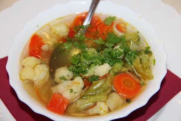 Овощной суп Меню