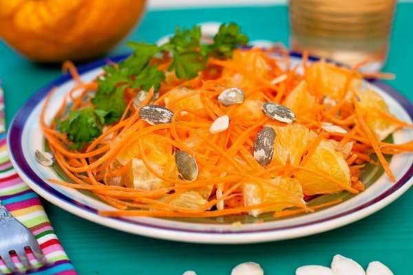 Салат Оранжевый с морковью и апельсином