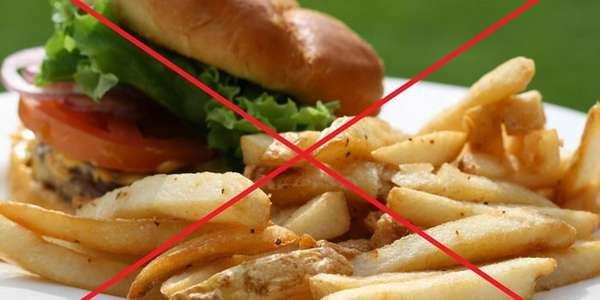 Перечень запрещенных продуктов питания