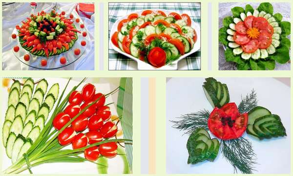 Форма нарезки огурцов и помидоров Фото