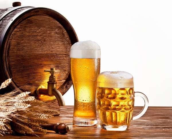 Пивная диета для похудения. Бочка с пивом