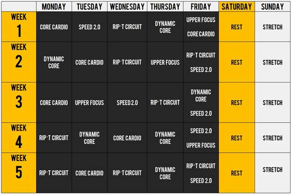 Тренировка Фокус Т25 уровень бета календарь