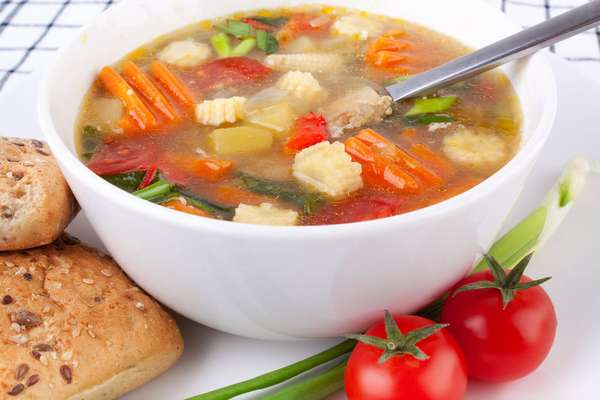 Суп томатный с сельдереем Фото