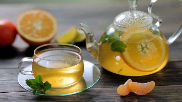 Зеленый чай с цитрусовым соком = двойная польза
