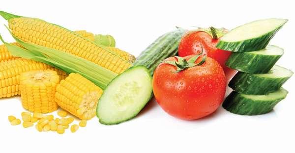 Огурец помидор кукуруза