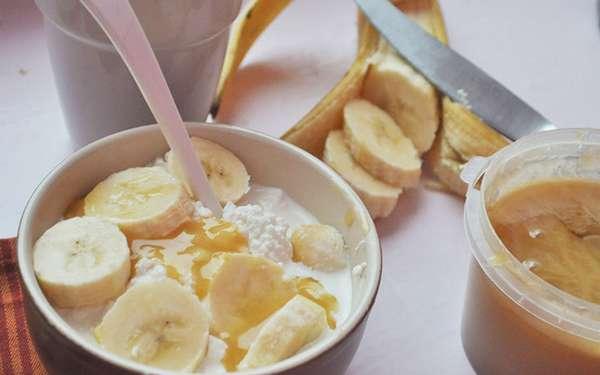 Творог с бананом для похудения
