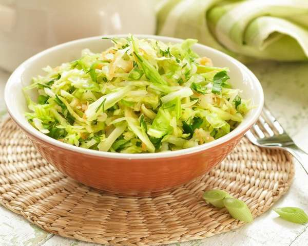 Салатик с рисом и кольраби