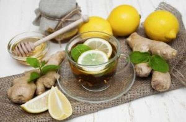 Коктейль имбирь, лимон, мёд
