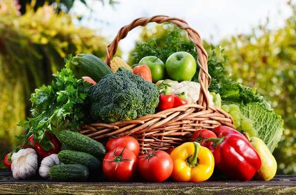 Какие овощи способствуют похудению: Овощи в корзине