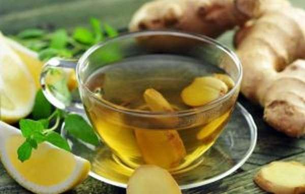 Зеленый чай и имбирь