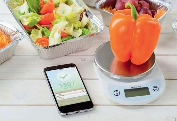 Взвешиваем продукт и расчитываем калории