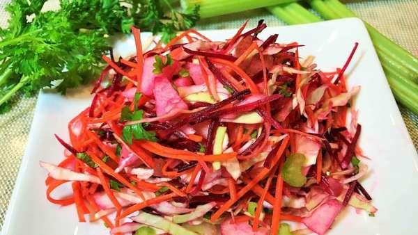 Рецепты салатов для очищения Фото