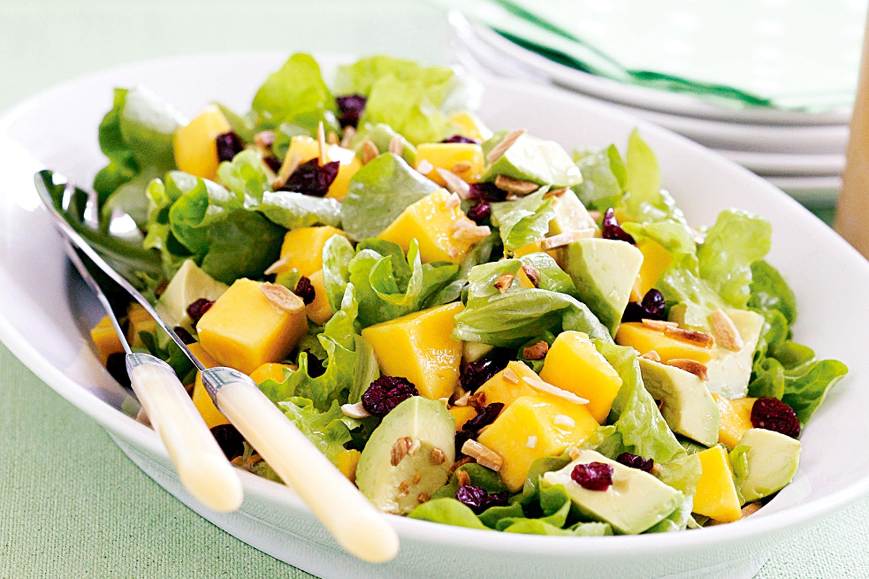 Щелочная диета Бекхэм Салат с манго