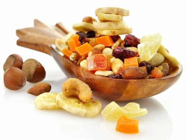 Время перекуса Орехи и фрукты