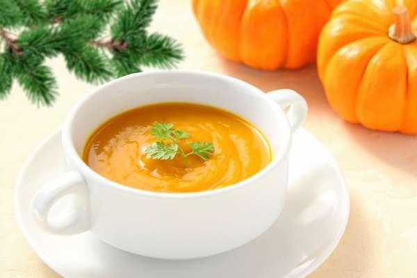 Суп-пюре из тыквы Фото