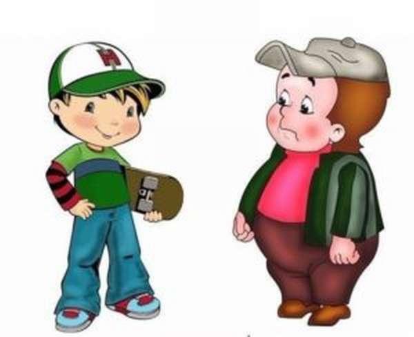 Толстый и худой ребенок