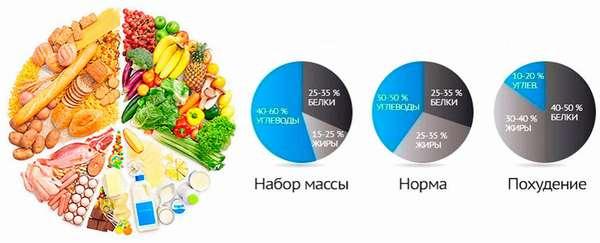 Дневная норма калорий, белков, жиров и углеводов