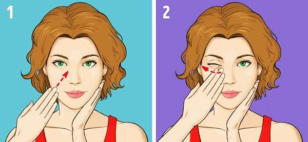 Упражнение № 7 - Массаж области щек и скул