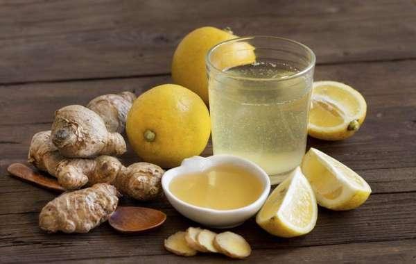 Молотый имбирь с медом и лимоном