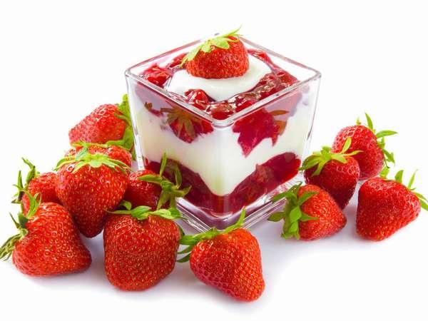 Минусы диеты Фото клубники с йогуртом