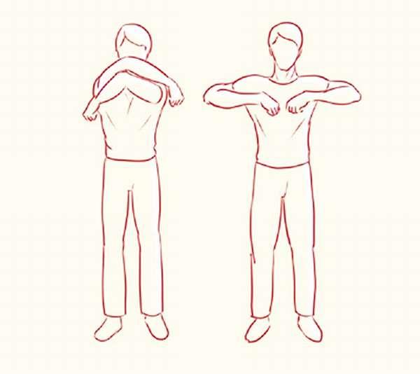 Упражнение Стерльниковой Обними плечи
