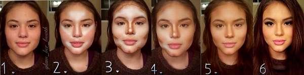 Лицо девушки при похудении