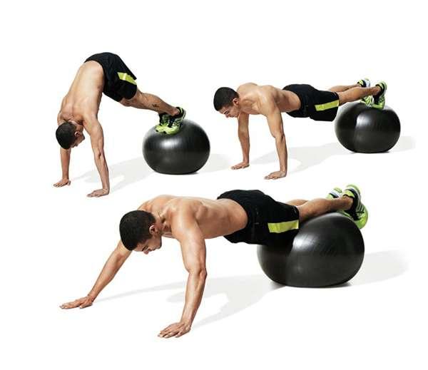 Упражнения для пресса на фитболе 12 эффективных упражнений