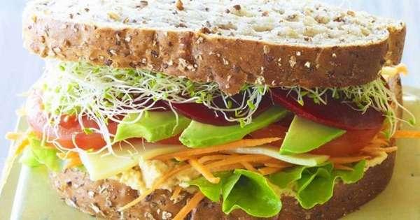 Отрубной хлеб с овощами Фото
